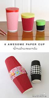 6 awesome paper cup instruments instruments cups and musical