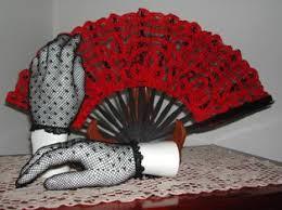 black lace fan lace parasols black gloves w black lace fan