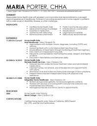 unforgettable home health aide resume examples to stand out