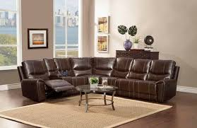 coaster macpherson reclining leather living room set with power