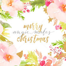 download this adorable merry christmas flower frame background