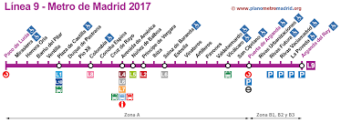 Madrid Metro Map line 9 metro madrid line l9 updated in 2017