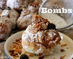 german chocolate bombs oh bite it