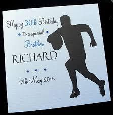 personalised u0027rugby u0027 birthday card dad brother grandad any