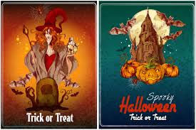 decorative halloween posters vector vector graphics blog