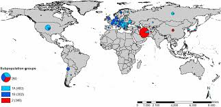 World Map Winter by Genetic Architecture Of Resistance To Stripe Rust In A Global