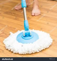 cleaning by use modern mop on stock photo 329612303