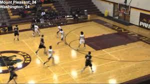 mount pleasant high in wilmington mt pleasant boys jv basketball vs washington 2016