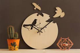 bird wall clock unique wall clocks modern wood clock