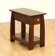 Narrow End Tables Living Room Enthralling Small Rectangular Side Table Cherry Wood End Tables