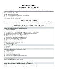 description of job duties for cashier cashier job duties description fast food job description for