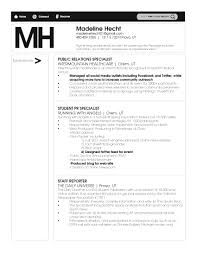 Supermarket Resume Examples by Public Relations Resume Template