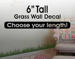 grass wall decal border 12 tall x 120 long