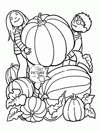 pumpkin coloring pages for kids seasons fall printables free