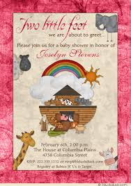 christian baby shower noah s ark baby shower invitation christian animal rainbow