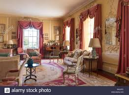 Coloured Curtains Dusty Pink Coloured Curtains With Swags And Tails In