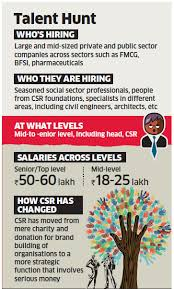 civil engineering jobs in india salary tax india inc on a hiring binge as csr grows in scale scope salaries