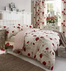 catherine lansfield wild poppies king duvet set multi amazon co
