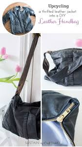 Upcycled Leather Bags - upcycling a leather coat into a diy leather bag 12monthsofdiy