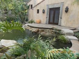 Backyard Plus Lawn U0026 Garden Backyard Small Pond Design In Mediterranean Style