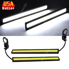 12 volt led lights waterproof 2x super bright white car cob led lights drl fog driving l