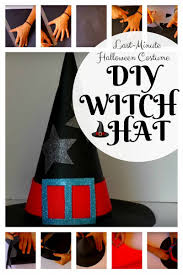 last minute halloween costume diy witch hat the budget diet