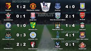 epl matchday 11 english premier league results table 21 23 11 2015 youtube