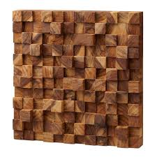 3d wood square takara wall teak wood 3d uncommongoods