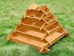 pyramid garden planters raised vegetable planters outdoor
