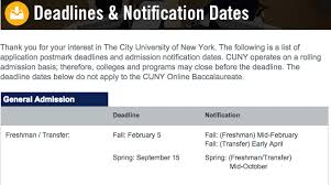 cuny acceptance letters going out very soon wjps news
