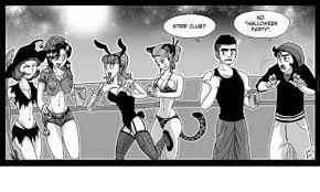 Halloween Party Meme - strip club no halloween party club meme on me me
