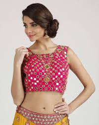 beautiful blouses mirror work beautiful blouse outfit4girls com