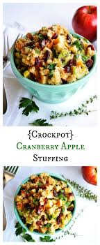 crockpot cranberry apple easy thanksgiving