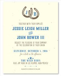 wedding invitation sles western wedding invitations on seeded paper west by