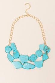 turquoise stone mandi turquoise stone statement necklace francesca u0027s