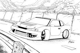 Drift Car Drawings Pages Sketch Coloring Page Coloring Pages