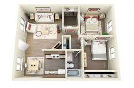 Interesting TwoBedroom Apartment Plans Home Design Lover - Apartment design plan