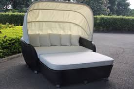 Patio Daybeds For Sale Davina Outdoor Day Bed With Canopy Black Cream On Sale At