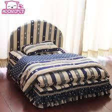 canapé princesse lavable 3 pièces petit chien lit maison set pet de luxe