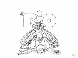 rio turkey coloring page free printable coloring pages