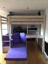 High Sleeper With Futon High Sleeper With Futon And Desk White London High Sleeper Bed