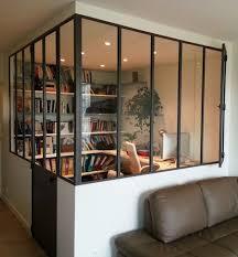 coin bureau dans salon verriere angle atelier créer un espace bureau sans fenêtre mais