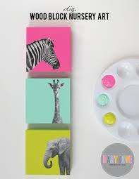 Diy Nursery Decor Pinterest by Diy Painted Wood Block Nursery Art Nursery Art And Nursery