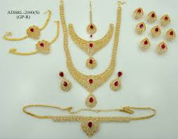 wedding earring necklace set images Adbrl2000gpr american diamond grand full bridal jewellery set buy jpg