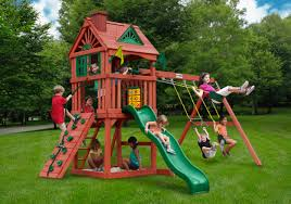 Cedar Playsets Outdoor Impressive Gorilla Swing Sets For Playground