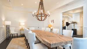 barnwood dining table dining room transitional with upholstered