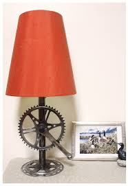 coolest lamps recycled bike parts lamp base for the home pinterest lamp
