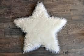 Washable Sheepskin Rug Machine Washable Faux Sheepskin White Star Area Rug U2013 Kroma Carpets