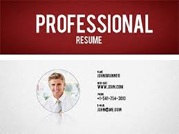 powerpoint resume template professional resume template for powerpoint presentations