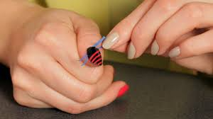 how to do a stripe design with tape nail art designs youtube